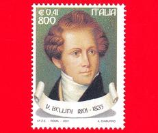 Nuovo - MNH - ITALIA - 2001 - Il Melodramma E Il Teatro Lirico - Ritratto Di Vincenzo Bellini - 800 L. - 0,41 - 6. 1946-.. Repubblica