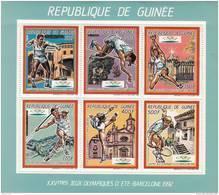 Republica De Guinea Nº Michel 1187 Al 1192 En Hoja - Ete 1992: Barcelone