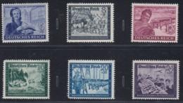 DR   888-893, Postfrisch **, Post-Kameradschaftsblock III, 1944 - Deutschland