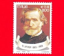Nuovo - MNH - ITALIA - 2001 - Il Melodramma E Il Teatro Lirico Italiano - 800 L. - 0,41 € • Ritratto Di Giuseppe Verdi - 6. 1946-.. Repubblica