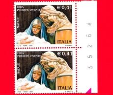 Nuovo - MNH - ITALIA - 2002 - Natale - Gesù, Giuseppe E Maria - Oria, Presepe Vivente - 0,41 - Numerico - 6. 1946-.. Repubblica
