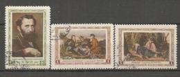 RUSSIE -  Yv N°  1803 à 1805  (o)  Peintre Perov   Cote 1,9 Euro  TBE - 1923-1991 UdSSR