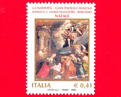 Nuovo - MNH - ITALIA - 2003 - Natale - Natività, Opera Di Gian Paolo Cavagna - Bergamo, Basilica S. M. Maggiore - 0,41 - 6. 1946-.. Repubblica