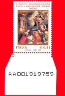 Nuovo - MNH - ITALIA - 2003 - Natale - Natività, Opera Di Gian Paolo Cavagna - Bergamo, Basilica S. M. Maggiore - 0,41 - - 6. 1946-.. Repubblica