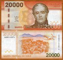 Chile, 20000 (20,000) Pesos, 2013 (2014), P-165-New, AA-Prefix UNC - Chili