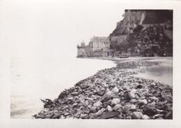 PHOTO ORIGINALE 39 / 45 WW2 WEHRMACHT FRANCE MONT SAINT MICHEL VUE SUR LA DIGUE - Guerra, Militari