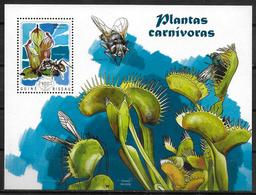 GUINEE BISSAU BF 1007  * *  ( Cote 13e ) Plantes Carnivores Cactus Mouche Fourmi - Végétaux