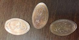 62 SAINT OMER LA COUPOLE 3 PIÈCES ÉCRASÉES ELONGATED COINS PENNY SOUVENIRS 5 CENT - Pièces écrasées (Elongated Coins)