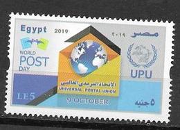 EGYPT, 2019, MNH, UPU, WORLD POST DAY, 1v - UPU (Unión Postal Universal)