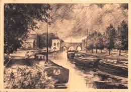 Tournai - L'Escaut - Péniches - Hausboote