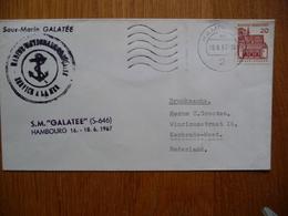 (2) Schiffpost ShipmaiL* SOUS -MARIN GALATÉE HAMBOURG 1967 - Boten