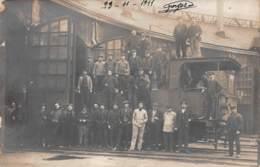 Capdenac - Groupe De Cheminots Devant Une Locomotive - 23 Novembre 1911 - Francia