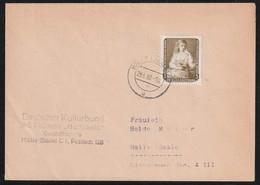 DRUCKSACHE Mit MiNr. 693 (EF), HALLE (SAALE) C1 28.6.60 -10 U - [6] República Democrática
