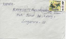Trengganu Sur Lettre Vers Singapore 1978 Flamme. Cover, Brief - Malesia (1964-...)