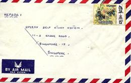 Selangor Sur Lettre Vers Singapore 1978. Cover, Brief - Malesia (1964-...)