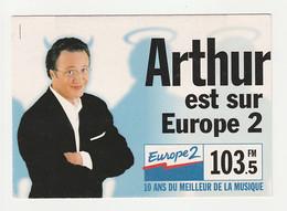 ARTHUR Carte Postale Publicitaire EUROPE 2 - Artistes