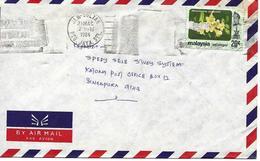 Selangor Sur Lettre Vers Singapore 1984 Flamme. Cover, Brief - Malesia (1964-...)