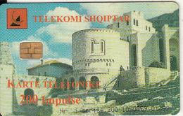 ALBANIA - Castle, Albtelecom Telecard 200 Units, Tirage 30000, 01/99, Used - Albania