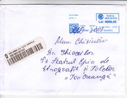 2018 , MOLDOVA   MOLDAVIE   MOLDAWIEN  , Orange , Machine Stamp , Used  Recomanded Cover - Moldavia
