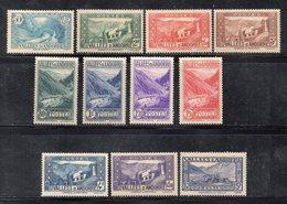 U109 - ANDORRA FRANCESE 1937,  11 Valori Diversi (2380A) - Andorre Français