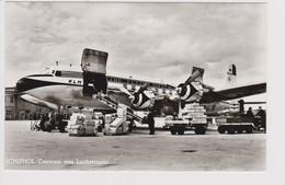 Vintage Rppc KLM K.L.M. Douglas Dc-6A PH-TGA Freighter Aircraft @ Schiphol Amsterdam Airport - 1919-1938: Between Wars