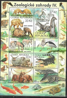 CZECHIA, CZECH REPUBLIC, 2019, MNH,ZOOS, REPTILES, CROCODILES, BIRDS, TURTLES, FISH, SHEETLET - Reptiles & Anfibios
