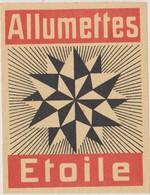 Ancienne Et Rare étiquette Boite D'allumettes Matchbox Etoile 8,5 X 6,5 CM - Boites D'allumettes - Etiquettes
