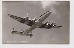 Vintage Rppc KLM K.L.M. Royal Dutch Airlines Lockheed Constellation L-1049 Aircraft - 1919-1938: Between Wars