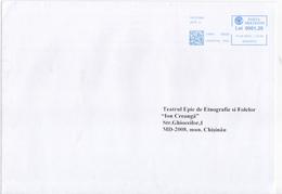 2019 , MOLDOVA   MOLDAVIE   MOLDAWIEN  , Orange , Machine Stamp , Used   Cover - Moldavia