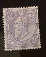 2F Violet  Neuf Charnière - 1869-1883 Leopold II