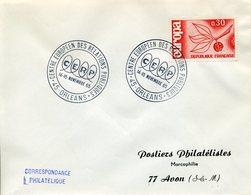 ORLEANS 1965 CENTRE AUROPEEN DES RELATIONS PUBLIQUES CERP - Marcophilie (Lettres)