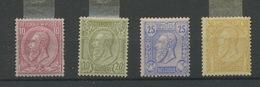 46 - 47 - 48 - 50 Neufs Charnière Propre. Heel Fris.   Cote 318,- Euros - 1884-1891 Leopoldo II