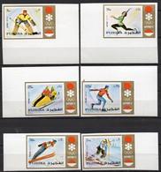 Fujeira  Mi. 839B / 844B Olympische Winterspiele Sapporo 1972 Ungezähnt **/MNH - Inverno1972: Sapporo