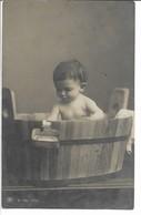 Child In Bathtub. Card Used 1908 Denmark.  S-4795 - Sonstige