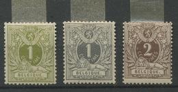 42 - 42 - 44 * Neuf AVEC Charnière PROPRE.    LICHT PLAKKERTJE  Heel Fris.   Cote 42,- Euros - 1884-1891 Leopoldo II