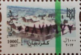 Lebanon 2018 MNH NEW Fiscal Revenue Stamp - 1000L Kferdibian Ski Resort & Hotel, Dated 2017 - Lebanon