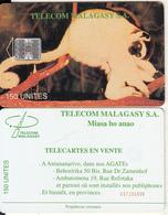 MADAGASCAR - Lemur(reverse B - CN Under The Line), Telecom Malagasy First Issue 150 Units, CN : C57151998, Used - Madagaskar