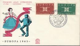 Frankreich, 1450-1451, FDC, Europa CEPT 1963 - Europa-CEPT