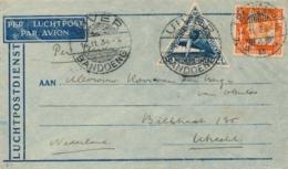 Nederlands Indië - 1934 - 12,5 Cent + 30 Cent Luchtpost Op Uiver-cover Van LBnr Bandoeng/4 Naar Utrecht / Nederland - Nederlands-Indië