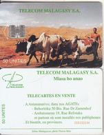 MADAGASCAR - Zebus(reverse B - CN Under The Line), Telecom Malagasy First Issue 50 Units, CN : C58152144, Used - Madagaskar