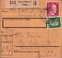 ! 1943 Paketkarte Deutsches Reich, Berlin Lichtenberg 3 - Alemania
