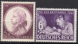 DR 810 + 811, Postfrisch **, Mozart + Tag Der Briefmarke 1941/42 - Deutschland