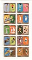 Sharjah Kleinbogen Mi. 942B/951B Olympische Sommerspiele München 1972 Ungezähnt **/MNH - Estate 1972: Monaco
