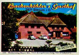 1 Altes Gasthausetikett, Backenköhler's Gasthof, 2871 Stenum I.O. #224 - Matchbox Labels