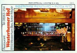 1 Altes Gasthausetikett, Westerhamer Hof, Restaurant, Bes. Anton Mayer, 8155 Westerham #225 - Boites D'allumettes - Etiquettes