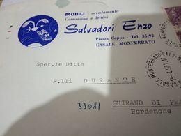 CASALE MONFERRATO   BUSTA DITTA MOBILI SALVADORI ENZO  VB1971 HH2430 - Alessandria