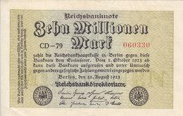 GERMANY 10 Million 10000000 Mark 1923 P-106a WM CIRCLES AU/UNC */* - [ 3] 1918-1933: Weimarrepubliek