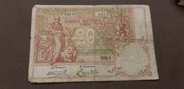 Billet Banque 20 Francs Belge 11 Décembre 1919 - [ 6] Trésorerie