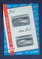 Volkswagen Door Handle Shell Coque De Poignée De Porte Tür Griffmuschel Advertising Publicité Werbung 1955 - KFZ