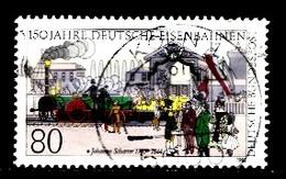Bund  1985 Mi.nr.: 1264 Deutsche Eisenbahnen  Gestempelt / Oblitérés / Used - Usati